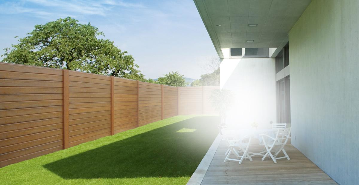 Garage et construction modulaire b ton et b ton aspect bois - Cloture jardin en beton orleans ...