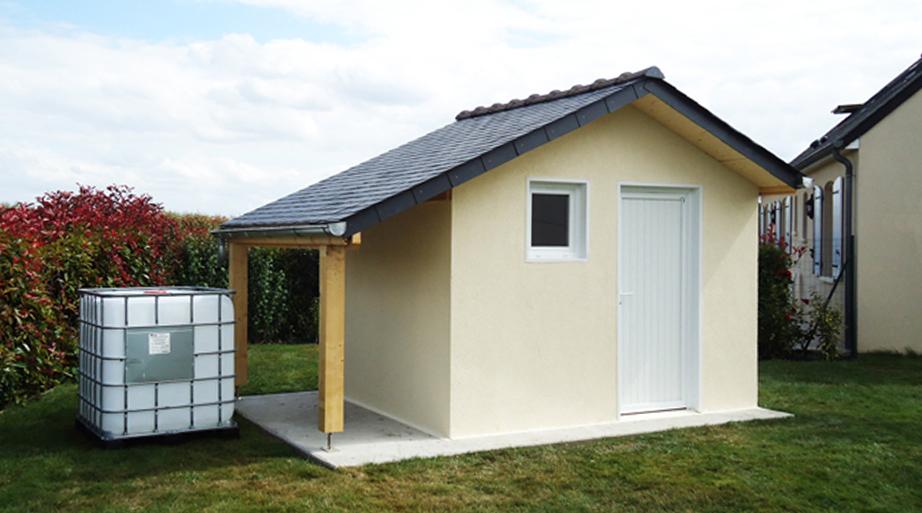 abris de jardin en b ton et b ton aspect bois sur mesure. Black Bedroom Furniture Sets. Home Design Ideas