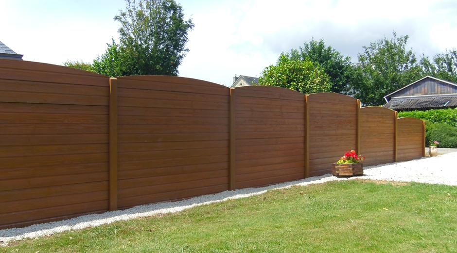 Cl tures b ton aspect bois - Cloture de jardin beton imitation bois ...