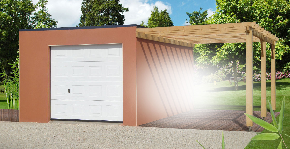Garage et construction modulaire b ton et b ton aspect bois for Construction garage parpaing