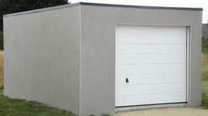 Garages pr fabriqu s en b ton et b ton aspect bois sur mesure - Garage toit plat beton ...