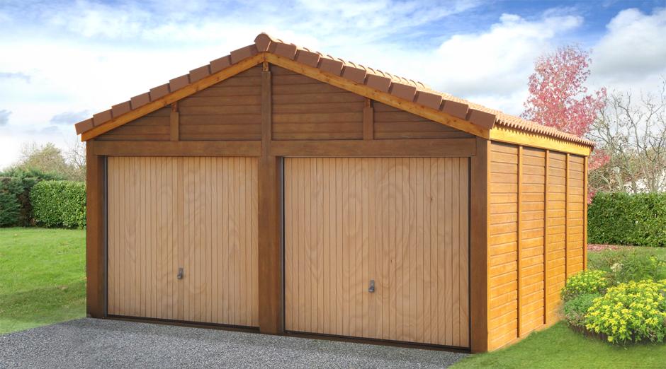 Garages préfabriqués en béton et béton aspect bois sur mesure # Garages En Bois Préfabriqués