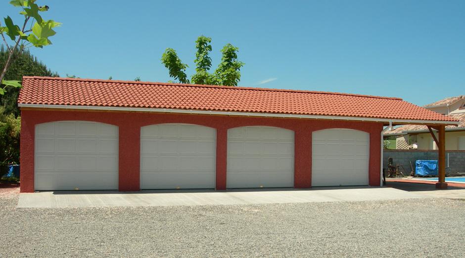 Garages pr fabriqu s en b ton et b ton aspect bois sur mesure for Garage de peinture automobile