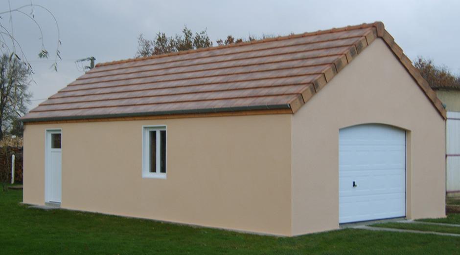 garages préfabriqués en béton et béton aspect bois sur mesure