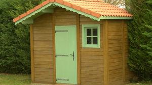Abris de jardin en béton et béton aspect bois sur mesure