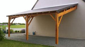 Auvents et bucher en bois sur mesure - Construire un auvent de porte ...